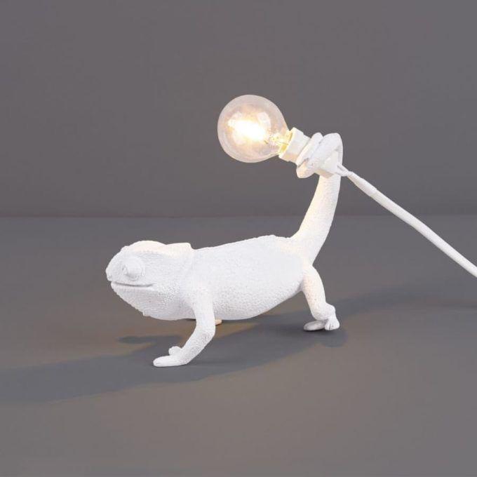 SELETTI - White Chameleon Lamp-4