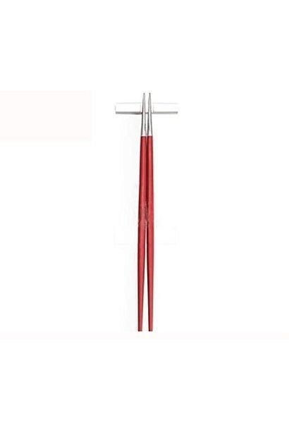CUTIPOL - Goa Chopsticks 3 pcs Red / Stainless steel