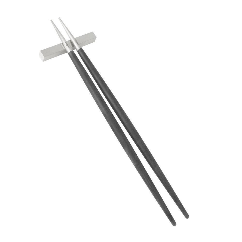 CUTIPOL - Goa Chopsticks 3 pcs Black / Stainless steel-1