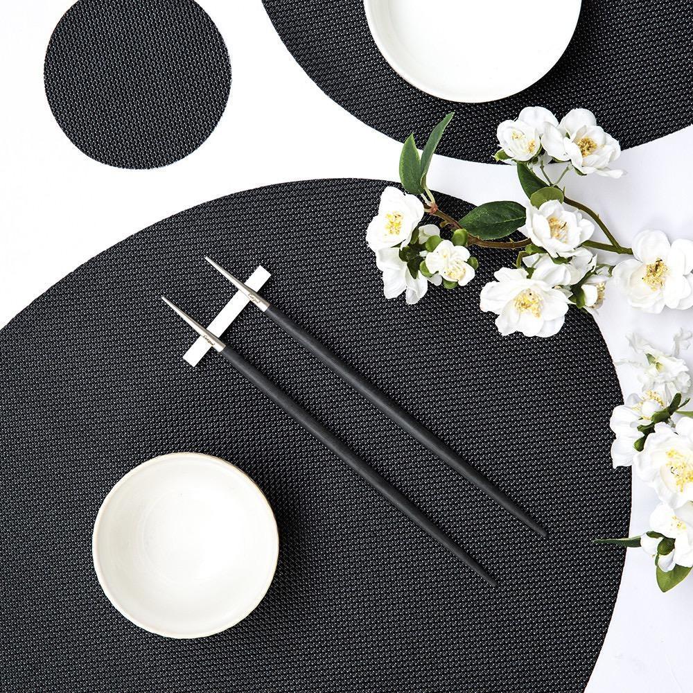 CUTIPOL - Goa Chopsticks 3 pcs Black / Stainless steel-4