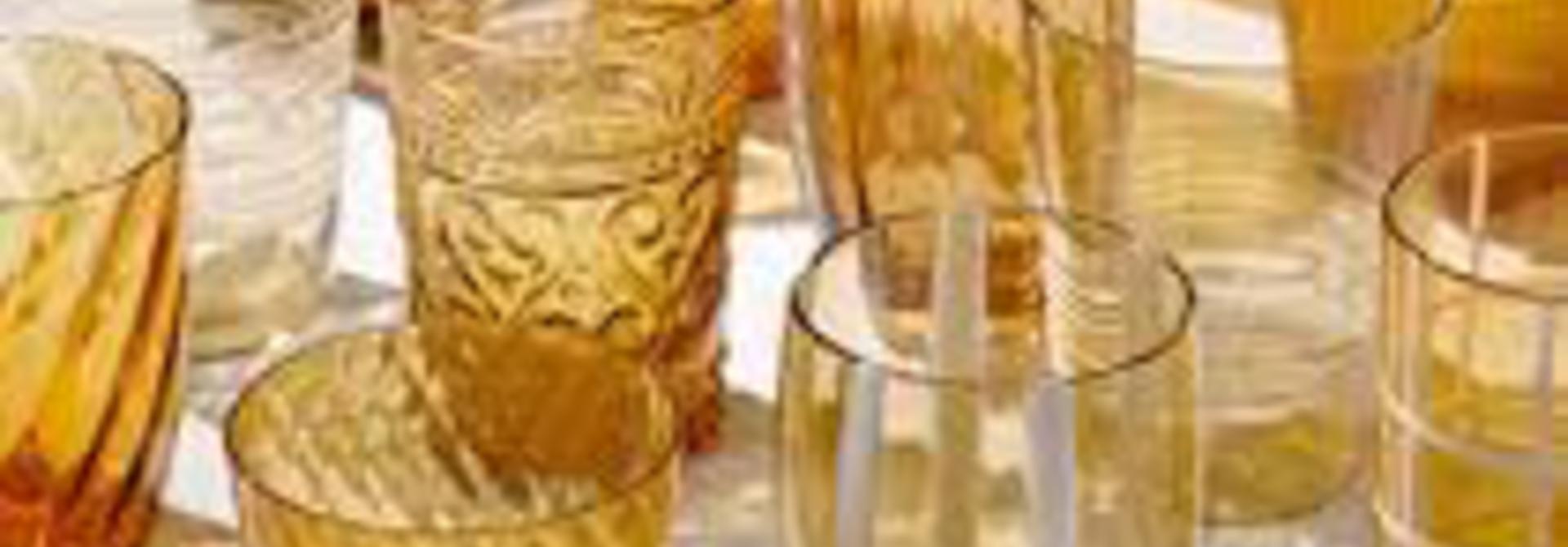 ZAFFERANO - Amber Glasses Set