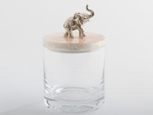 OBJETLUXE - Elephant Glass / Mother of Pearl Jar-2