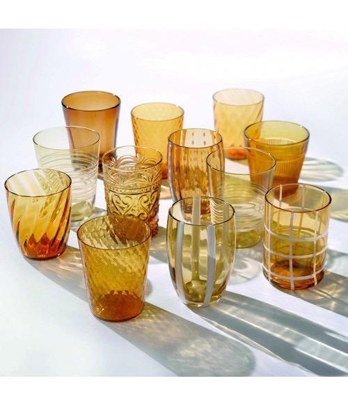 ZAFFERANO - Amber Glasses Set-2