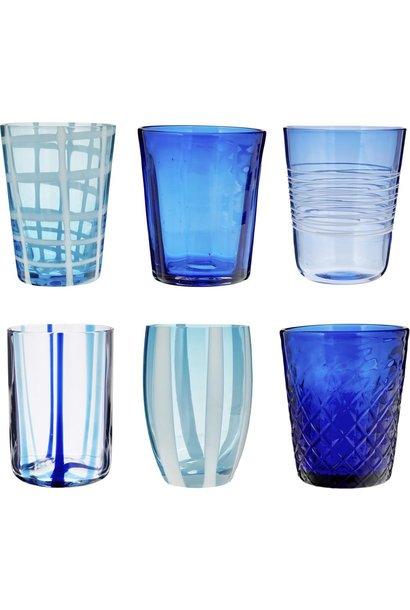 ZAFFERANO - Blue Melting Pot Glasses Box