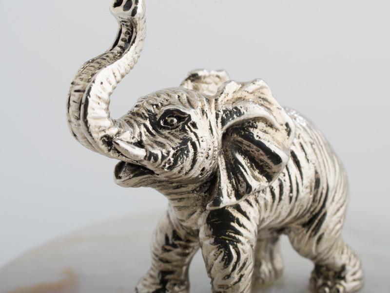 OBJETLUXE - Elephant Glass / Mother of Pearl Jar-3