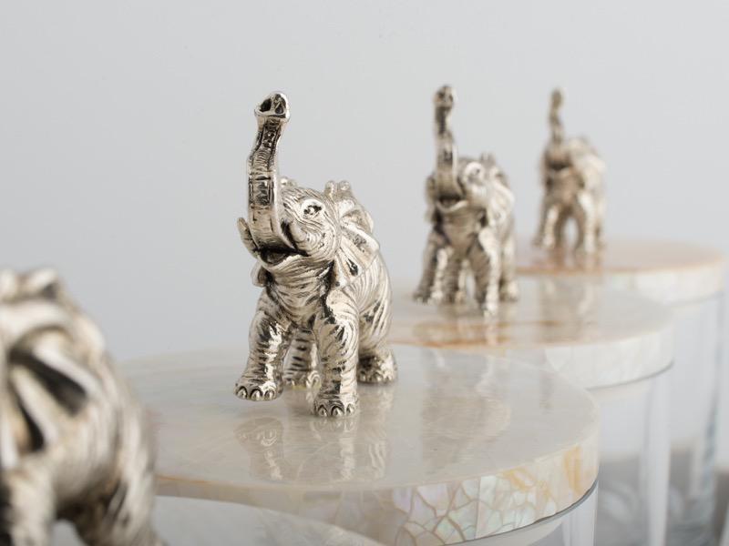 OBJETLUXE - Elephant Glass / Mother of Pearl Jar-4