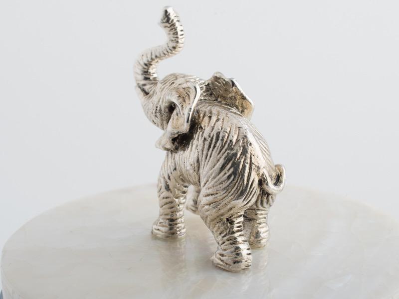 OBJETLUXE - Elephant Glass / Mother of Pearl Jar-5