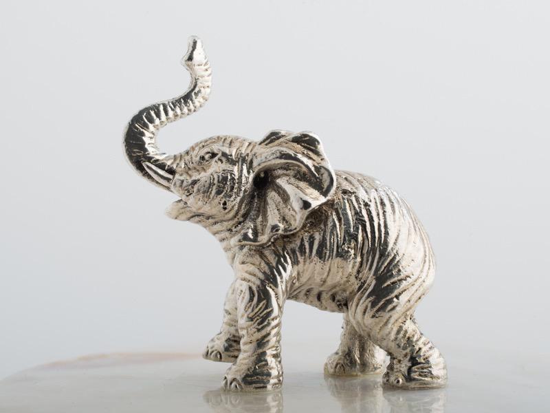 OBJETLUXE - Elephant Glass / Mother of Pearl Jar-6