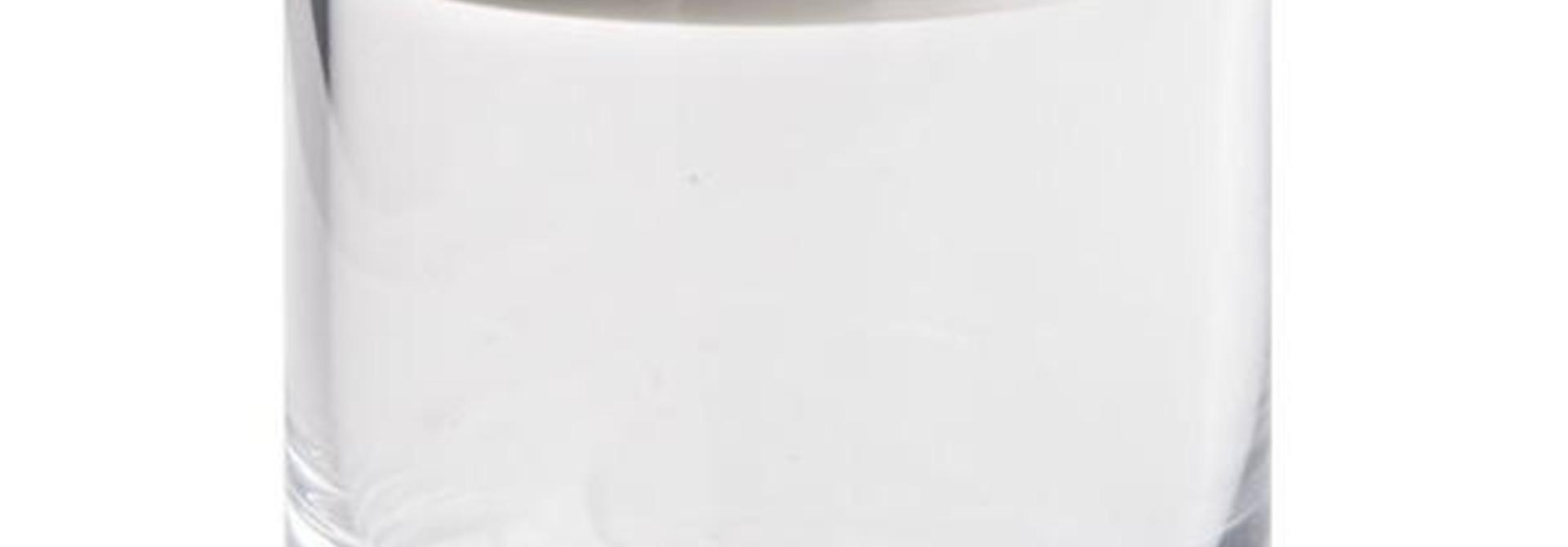 OBJETLUXE - Glass / Mother of Pearl Butterfly Jar Silver