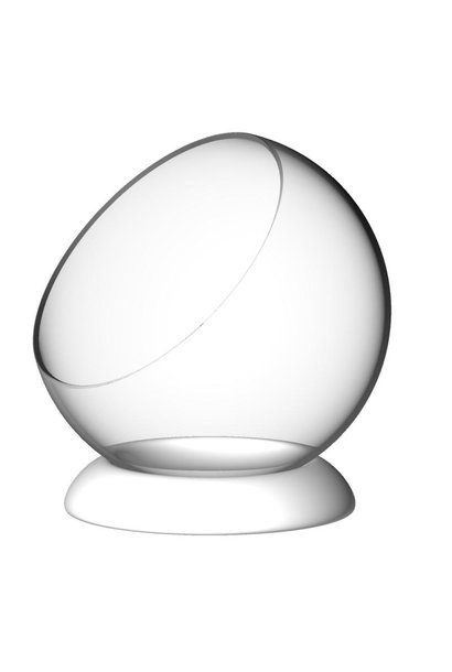 SILODESIGN - Glass Bubble / White Ring 12cm