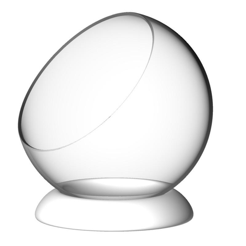SILODESIGN - Glass Bubble / White Ring 12cm-1