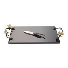 MICHAEL ARAM - Ginkgo Butterfly Granite Cheese Tray-1