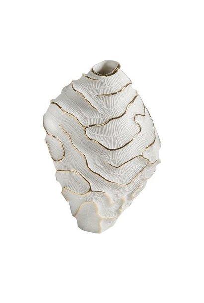 FOS CERAMICHE - Vase Porcelaine Fossilia Blanc Platine