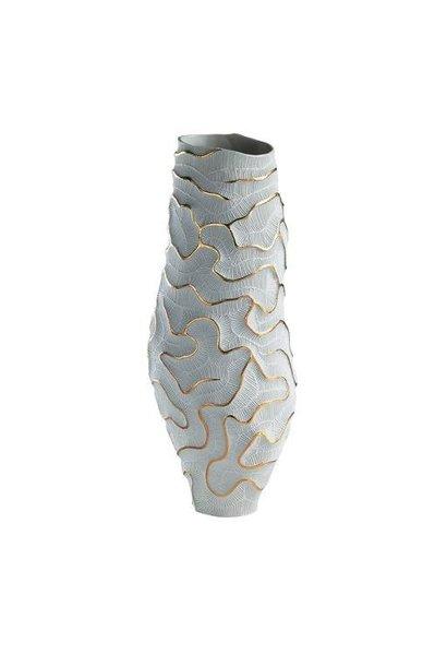 FOS CERAMICHE - Vase Fossilia Monolite Blanc Or