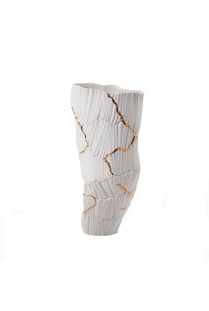 FOS CERAMICHE - Vase Anemos White and Gold