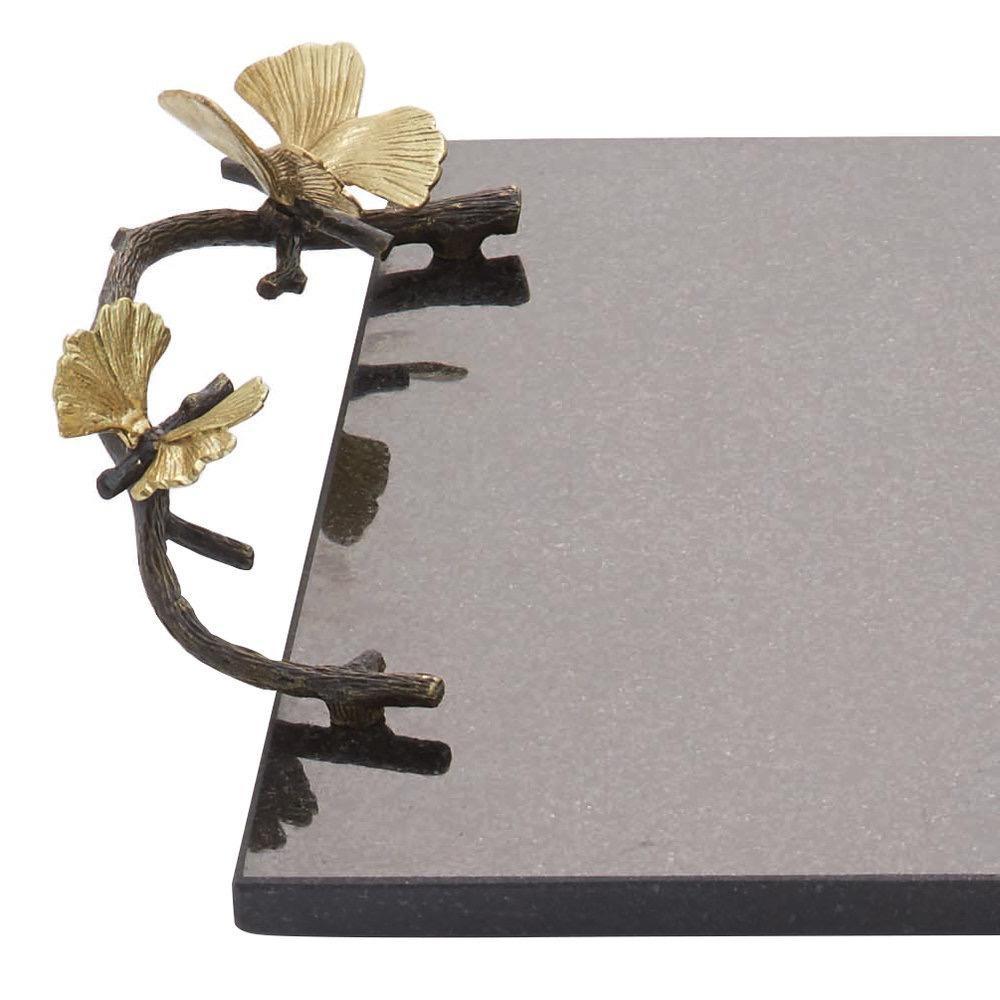 MICHAEL ARAM - Ginkgo Butterfly Granite Cheese Tray-2