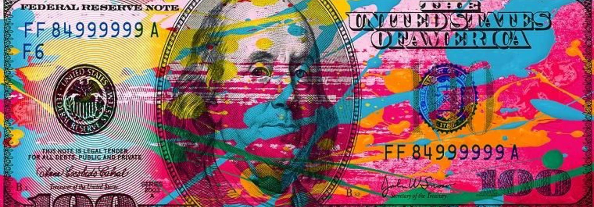 COBRA - Colorfull Dollar 200x100cm