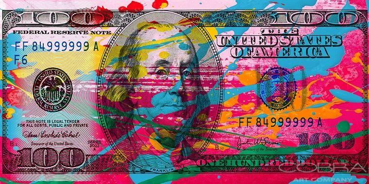 COBRA - Colorfull Dollar 200x100cm-1