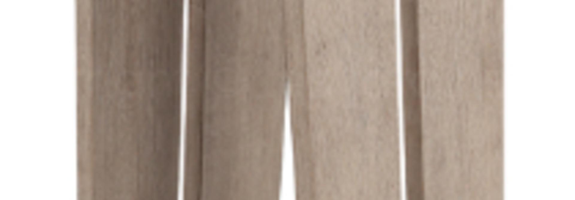 LES JARDINS - Skall Solar Lantern Teak 23x23x65cm