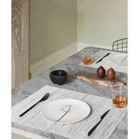 CHILEWICH - Wave Gray Placemat 36x48cm-2