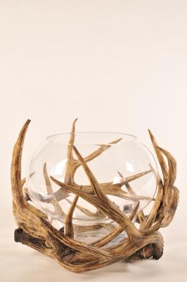 S BY SEGRAETI - Brown Deer Tealight Holder H50cm-1