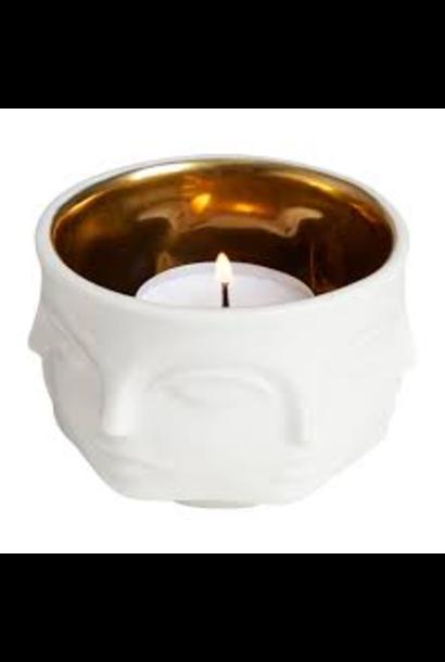 JONATHAN ADLER - Muse Candle Holder White / Gold