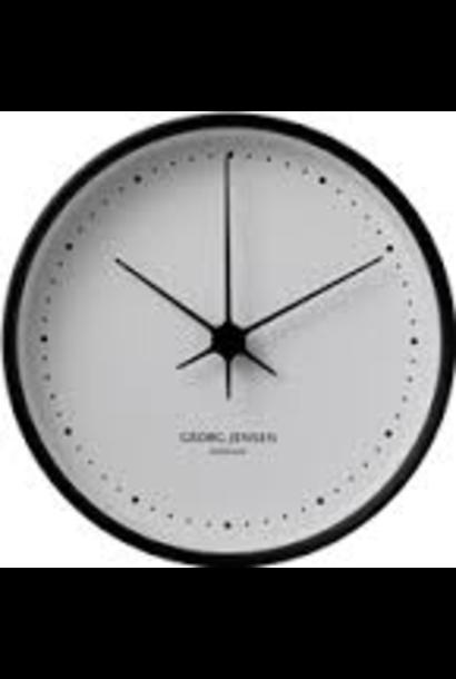 JENSEN - Horloge Blanche / Noir 15cm