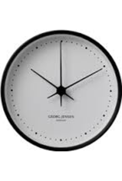 JENSEN - White / Black Clock 15cm