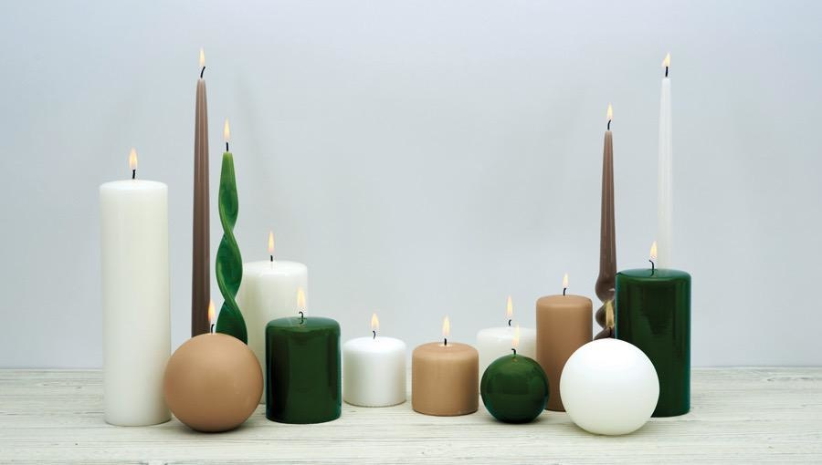 PERNICI - Ivory Lacquered Sphere Candle D.10cm-2