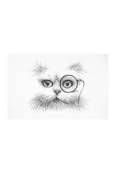 RORY DOBNER LIMITED - Cat Monocle Tea Towel
