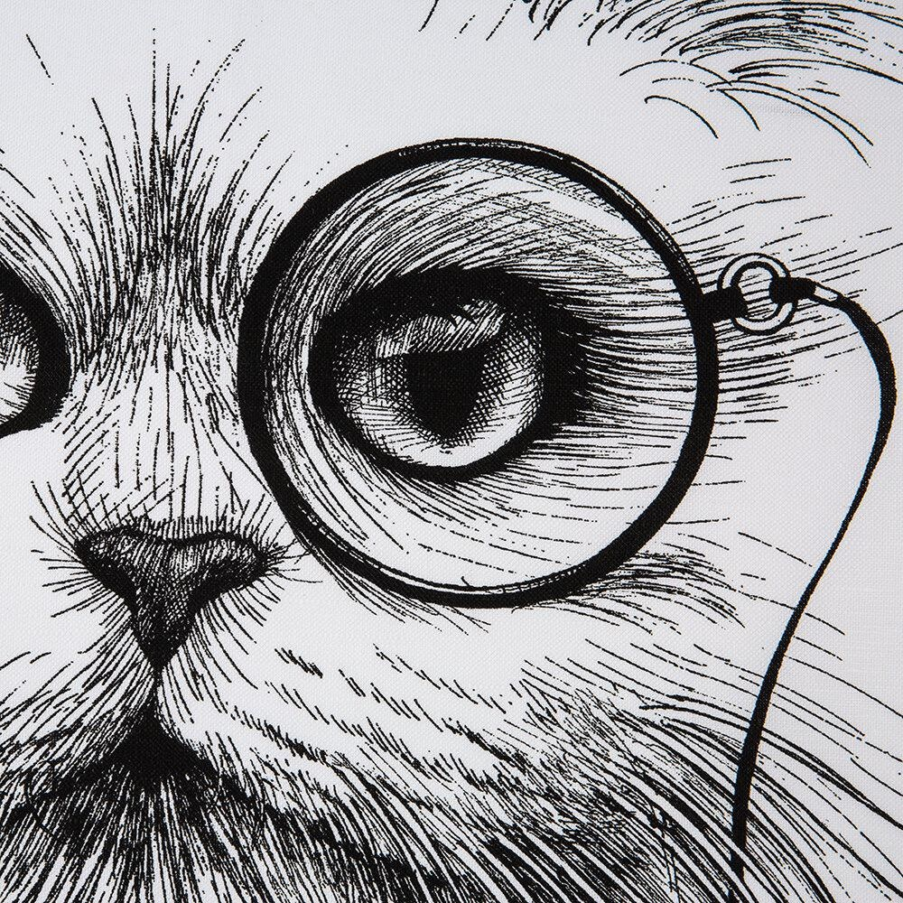 RORY DOBNER LIMITED - Cat Monocle Tea Towel-3