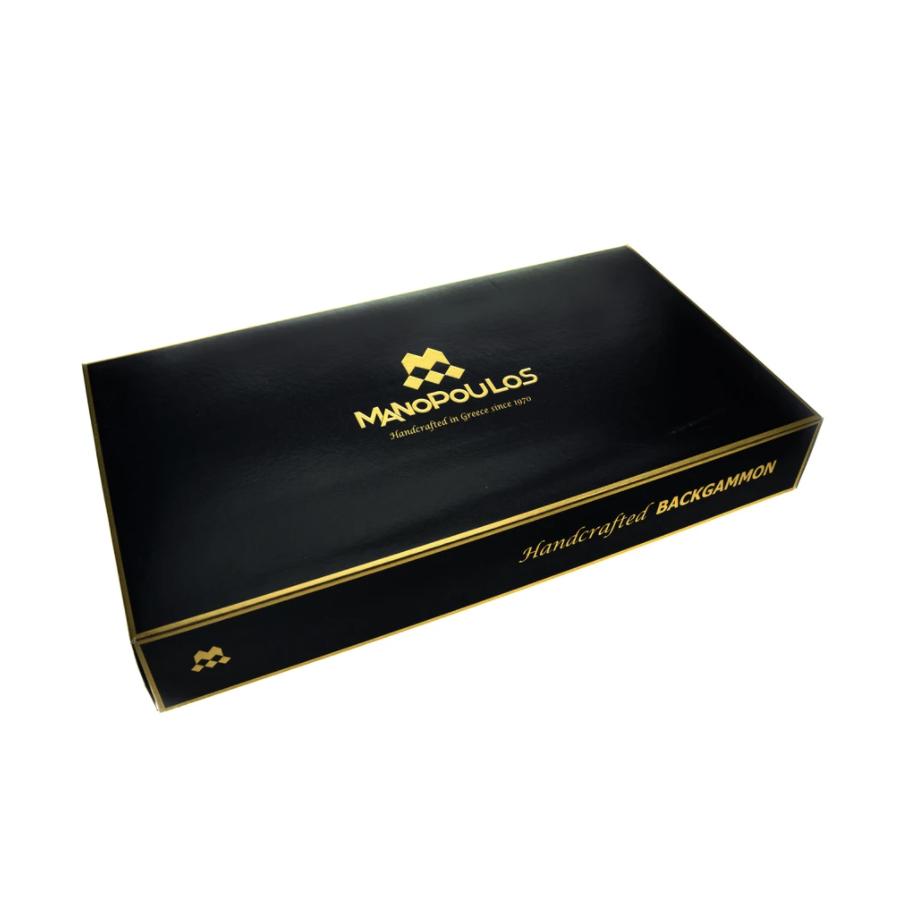 MANOPOULOS - Backgammon game Pearl Gray Small-6