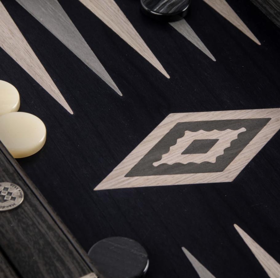 MANOPOULOS - Backgammon game Pearl Gray Small-3