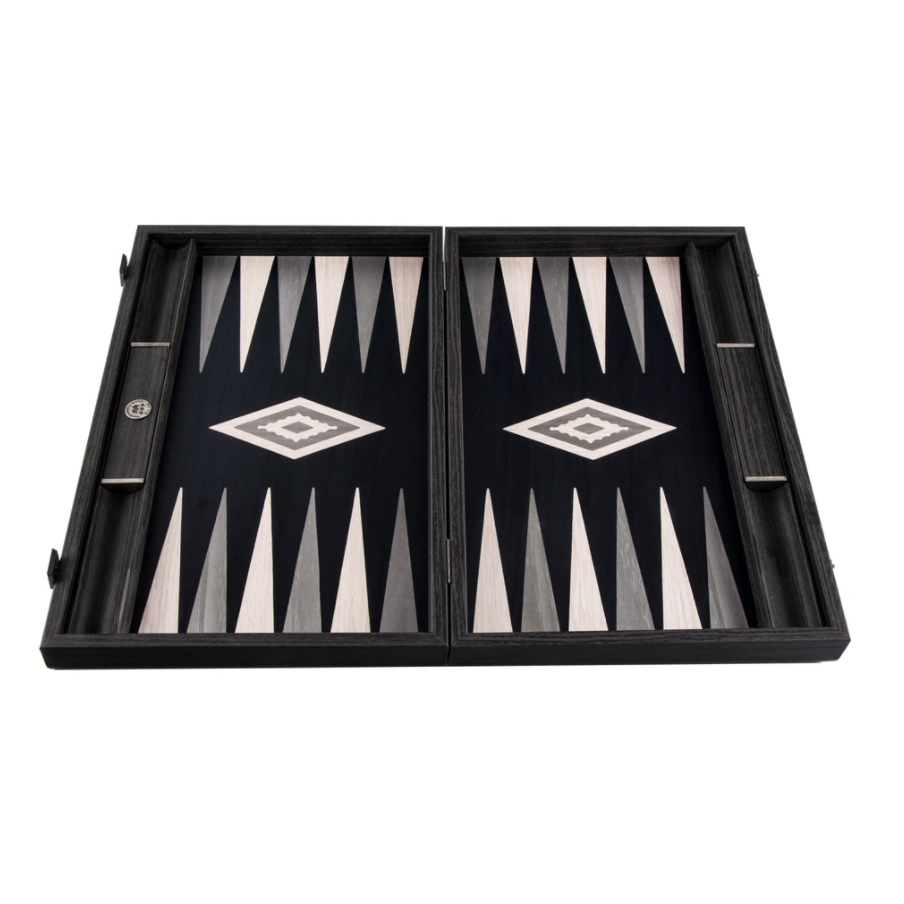 MANOPOULOS - Backgammon Games Pearl Gray Vavona Large-3
