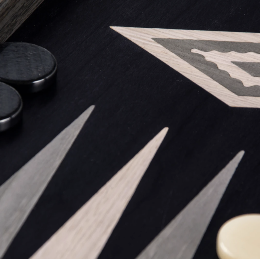MANOPOULOS - Backgammon Games Pearl Gray Vavona Large-5