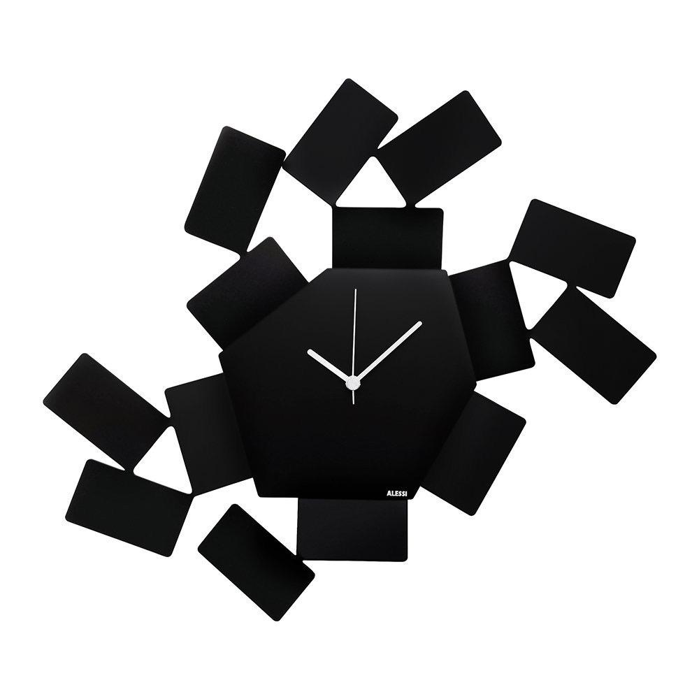 ALESSI - Stanza Black Wall Clock-1