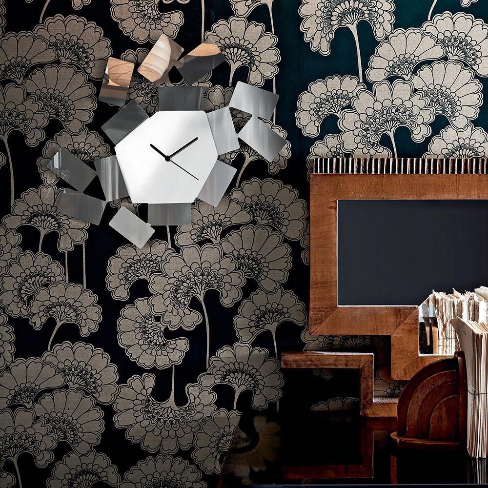 ALESSI - Stanza Black Wall Clock-2