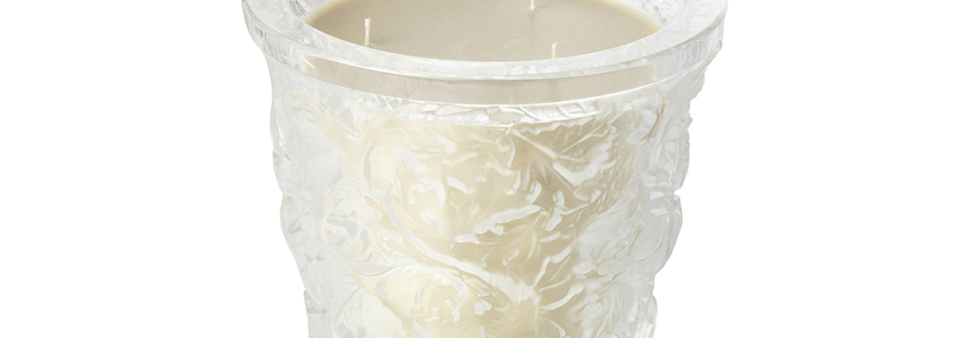LALIQUE - Forest Crystal Candle Vase