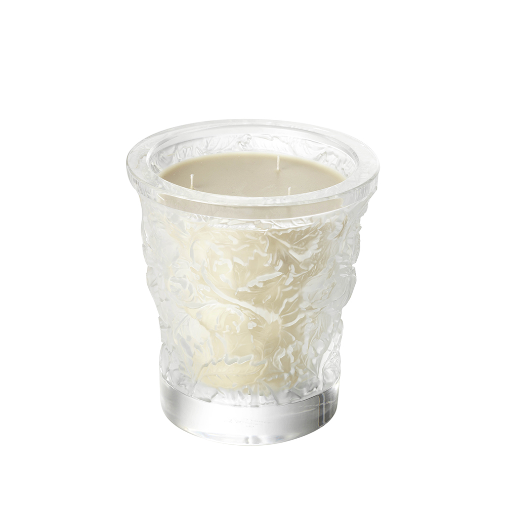 LALIQUE - Forest Crystal Candle Vase-1