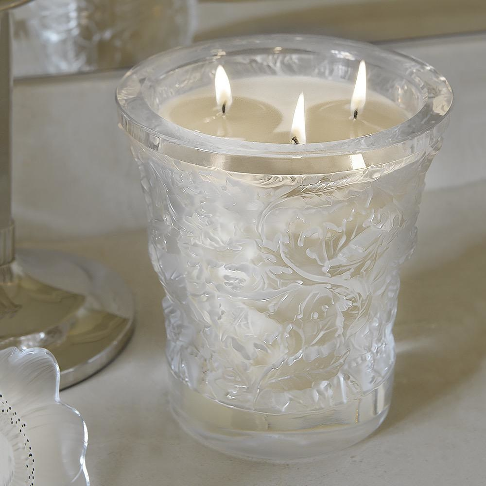 LALIQUE - Forest Crystal Candle Vase-2