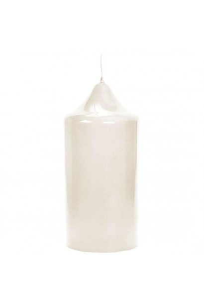 FINK - Cream Lacquered Altar Candle 15x8cm