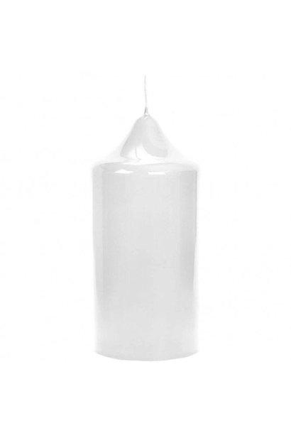FINK - Bougie Autel Laquée Blanc 15x8cm