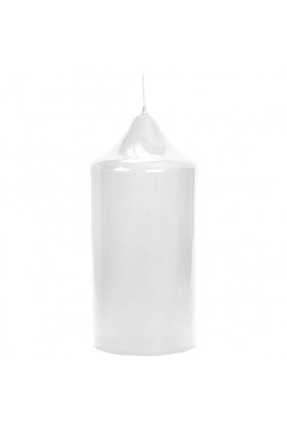 FINK - White Lacquered Altar Candle 15x8cm