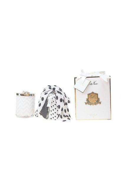 COTE NOIRE - Candle Herringbone White Scarf