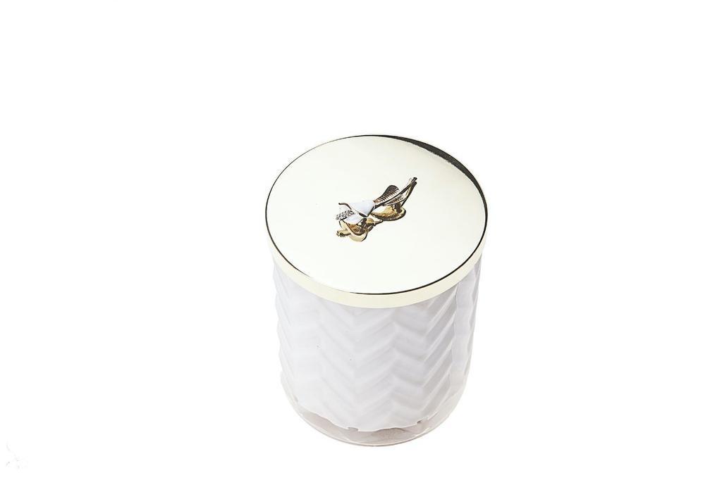 COTE NOIRE - Candle Herringbone White Scarf-3