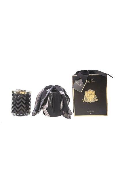 COTE NOIRE - Candle Herringbone Black Scarf