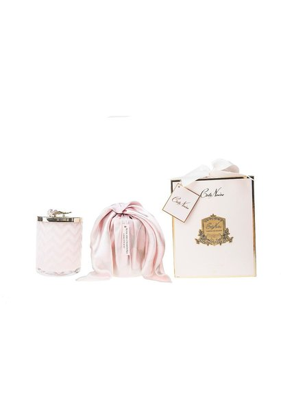 COTE NOIRE - Candle Herrigbone Pink Scarf