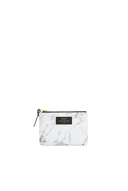 WOUF - Pouch White Marble Mini