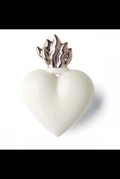DENZ HERZ - Coeur Flamme Silver