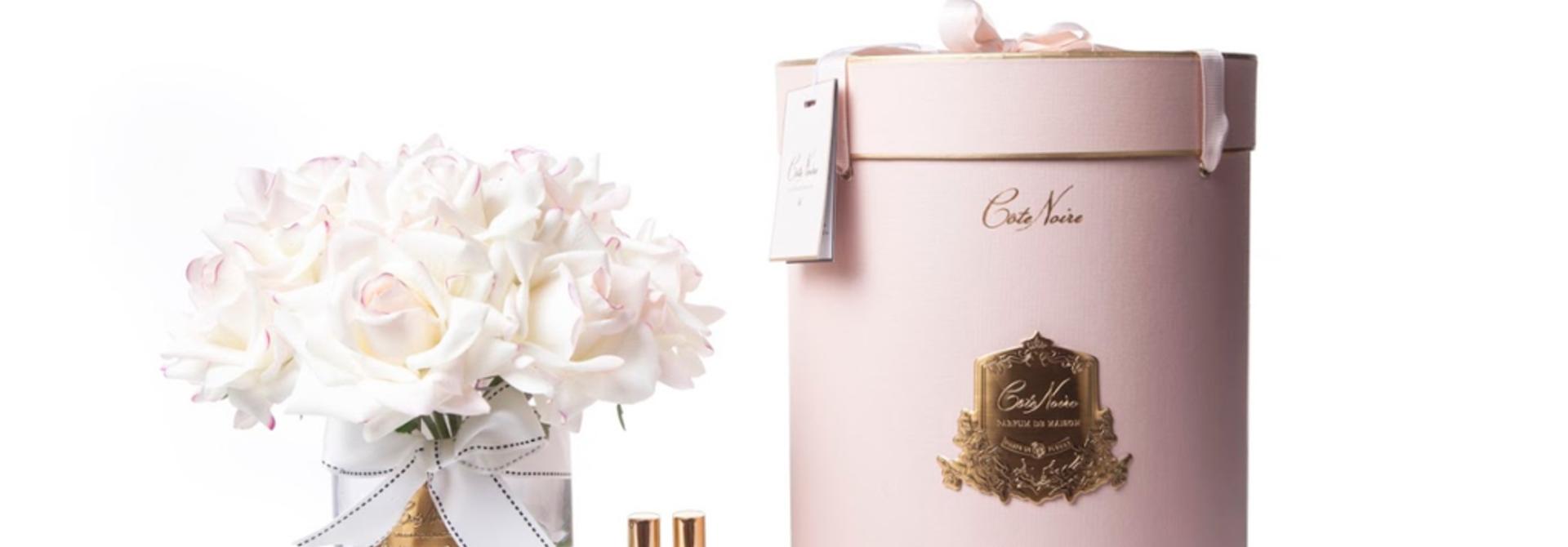 COTE NOIRE - Large Bouquet Rose Blush Clear Vase